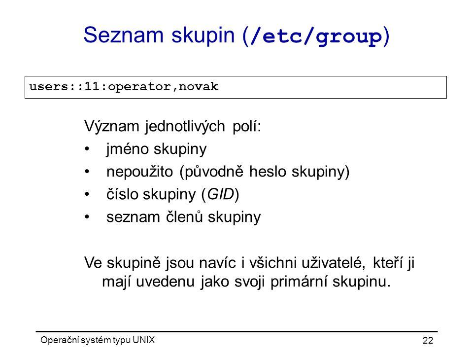 Seznam skupin (/etc/group)