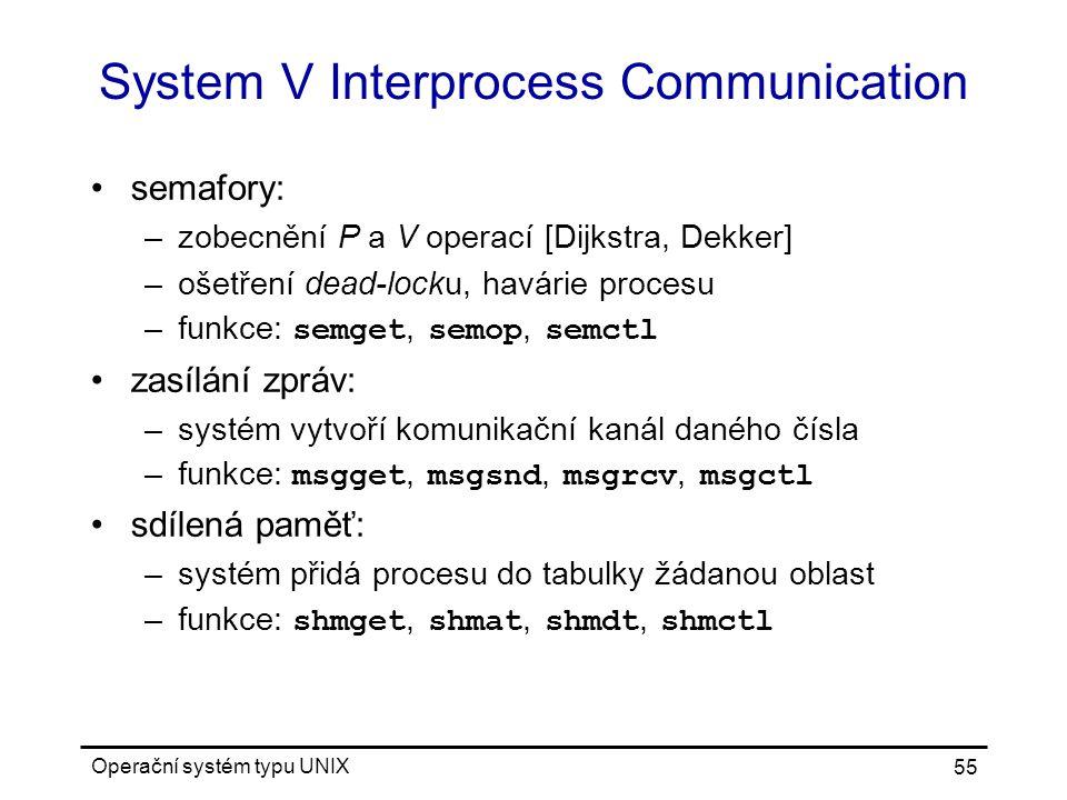 System V Interprocess Communication