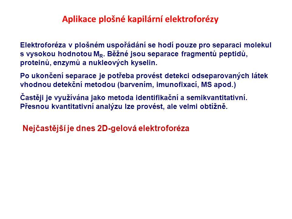 Aplikace plošné kapilární elektroforézy