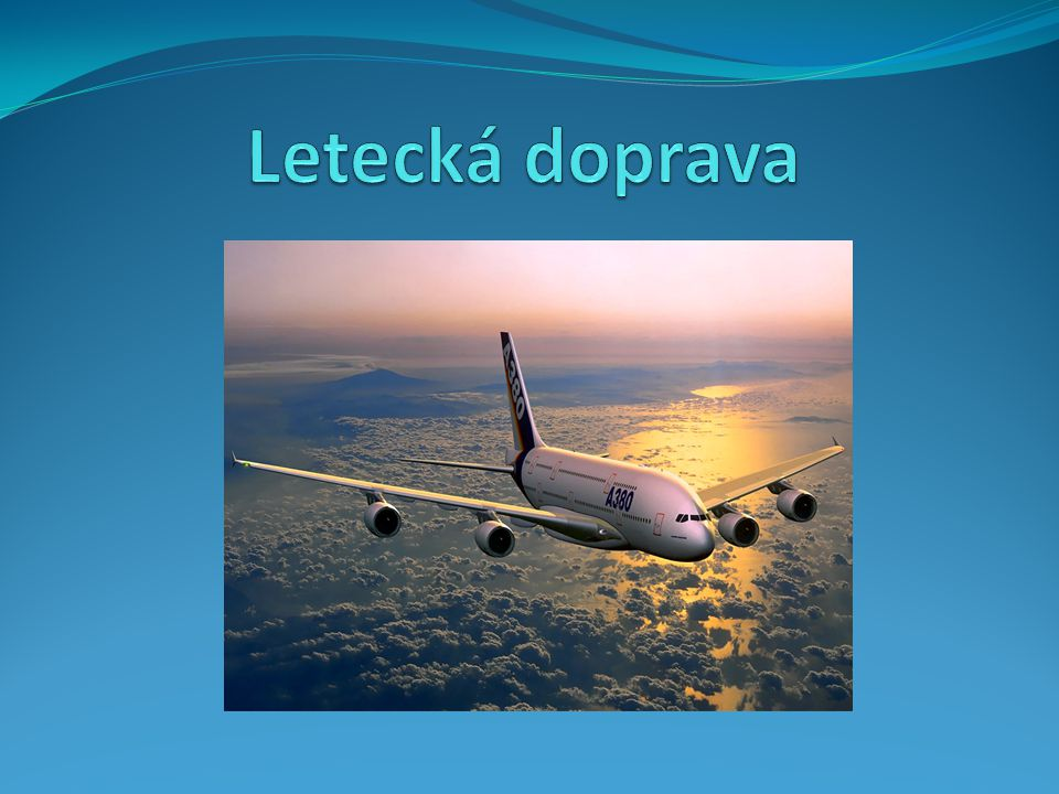 Letecká doprava