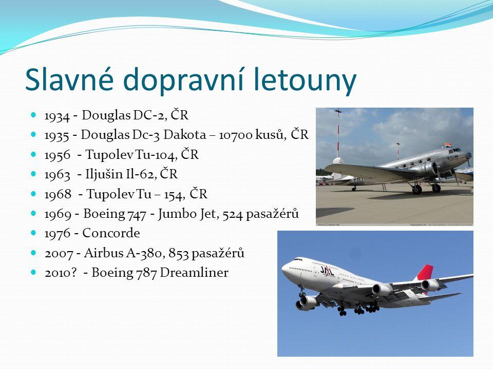 Slavné dopravní letouny