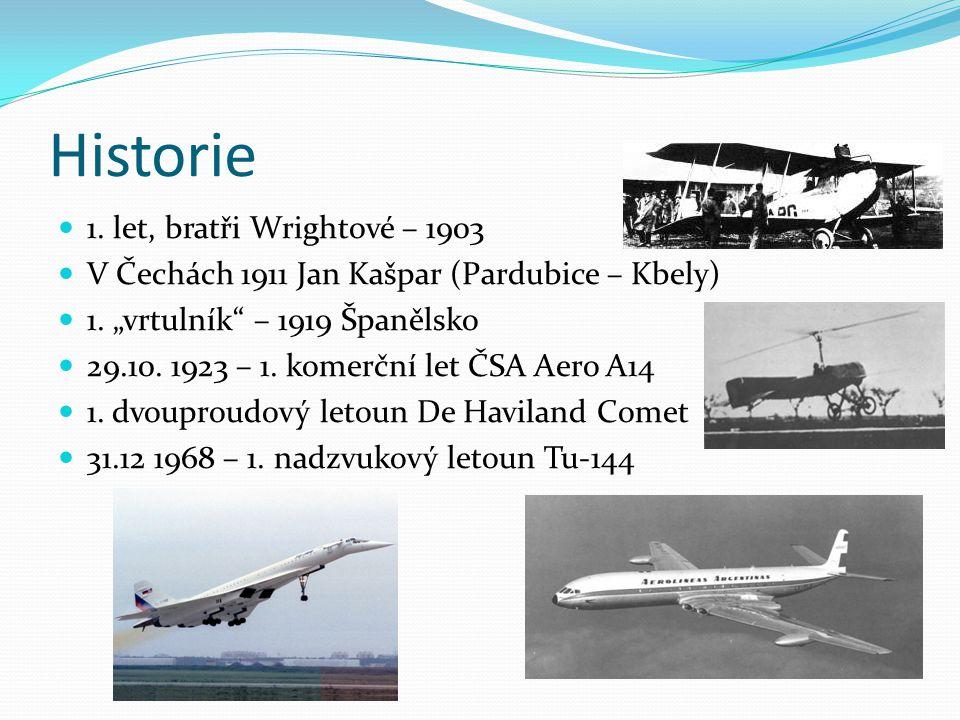 Historie 1. let, bratři Wrightové – 1903