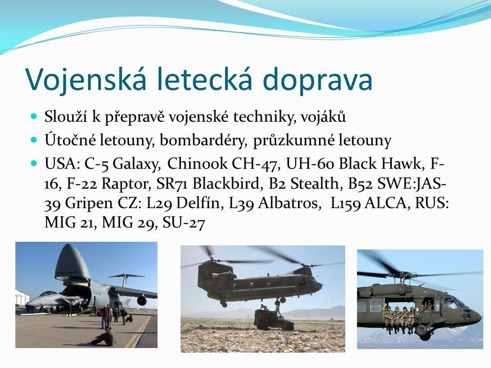 Vojenská letecká doprava