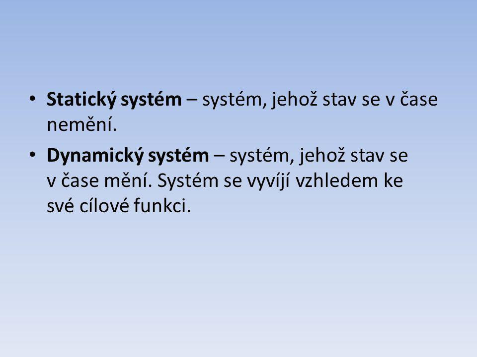 Statický systém – systém, jehož stav se v čase nemění.