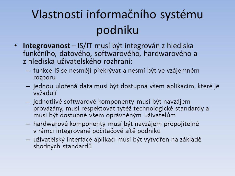 Vlastnosti informačního systému podniku