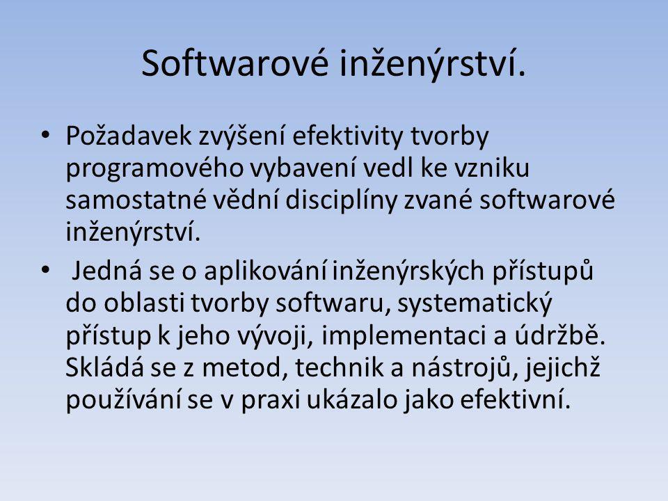 Softwarové inženýrství.