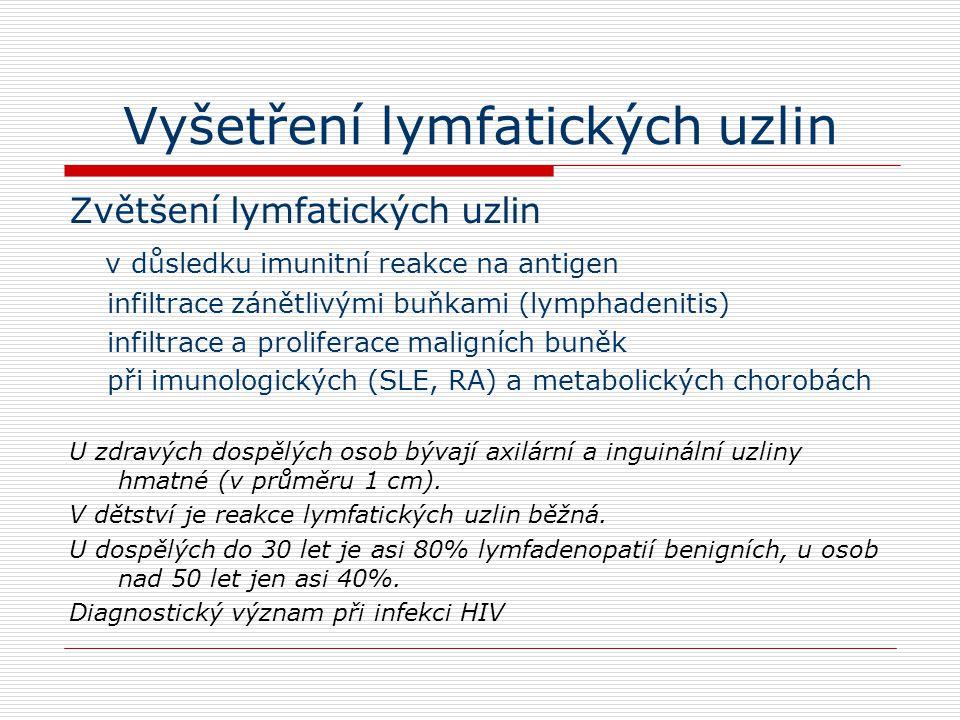 Vyšetření lymfatických uzlin