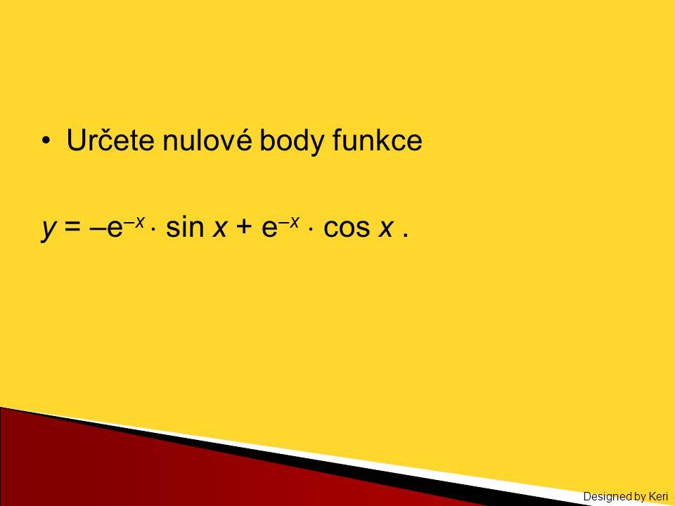Určete nulové body funkce