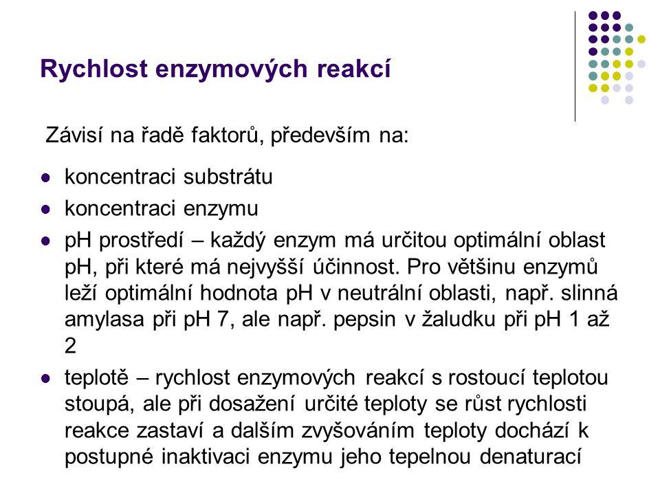 Rychlost enzymových reakcí