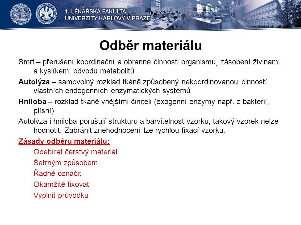 Odběr materiálu