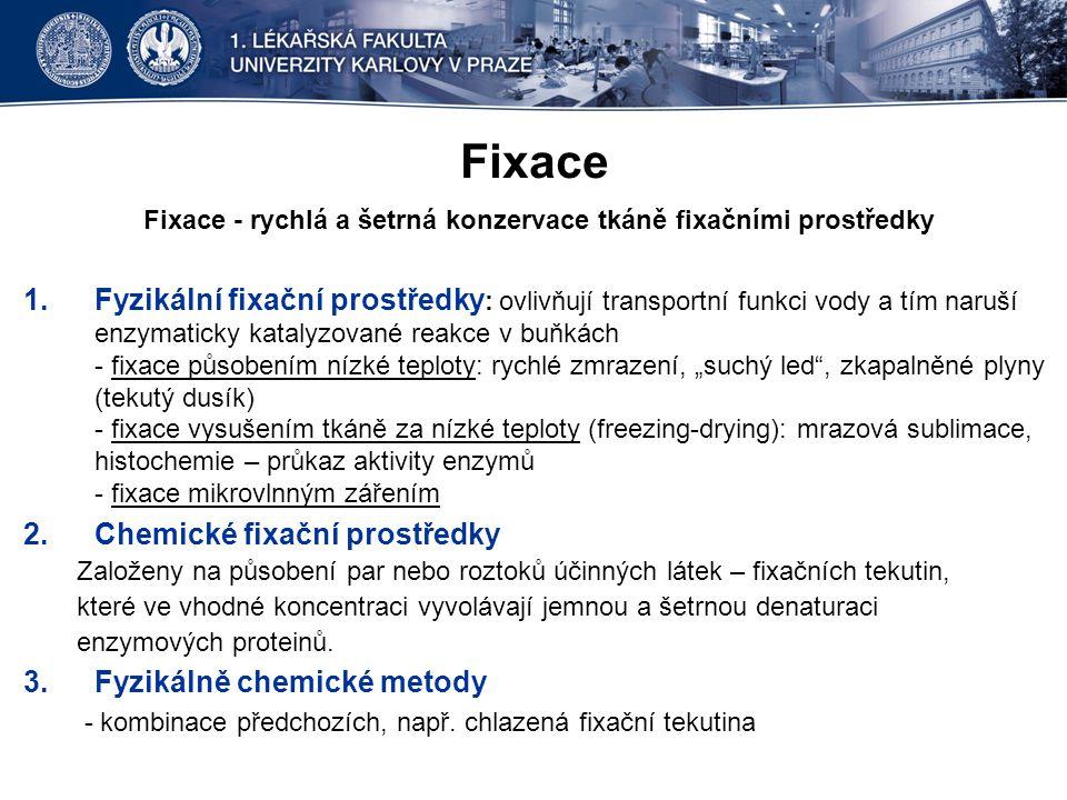 Fixace - rychlá a šetrná konzervace tkáně fixačními prostředky