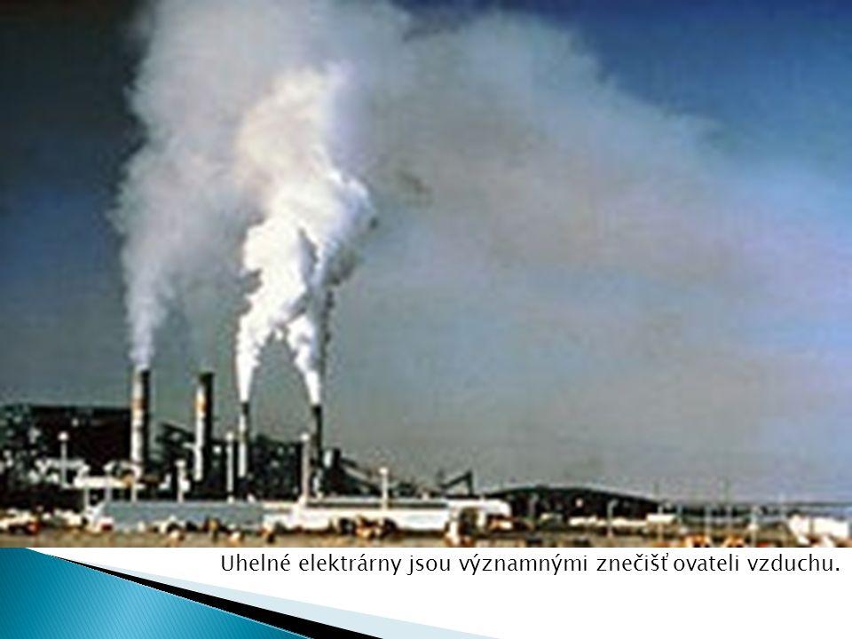 Uhelné elektrárny jsou významnými znečišťovateli vzduchu.