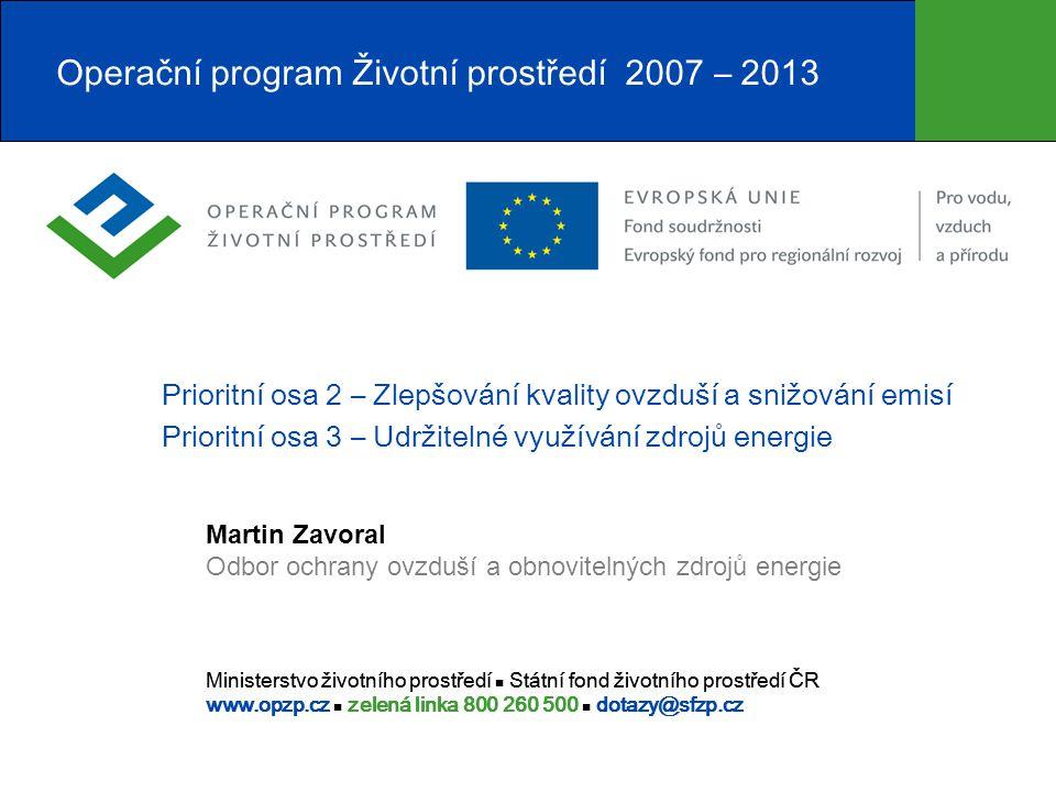 Operační program Životní prostředí 2007 – 2013