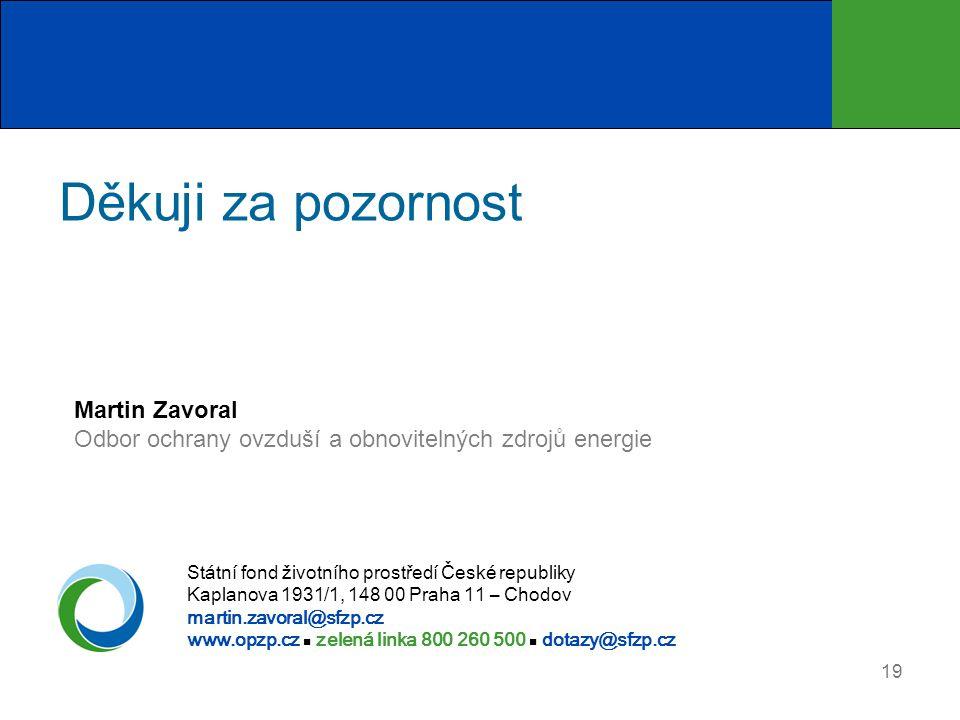 Děkuji za pozornost Martin Zavoral