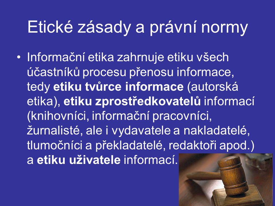 Etické zásady a právní normy