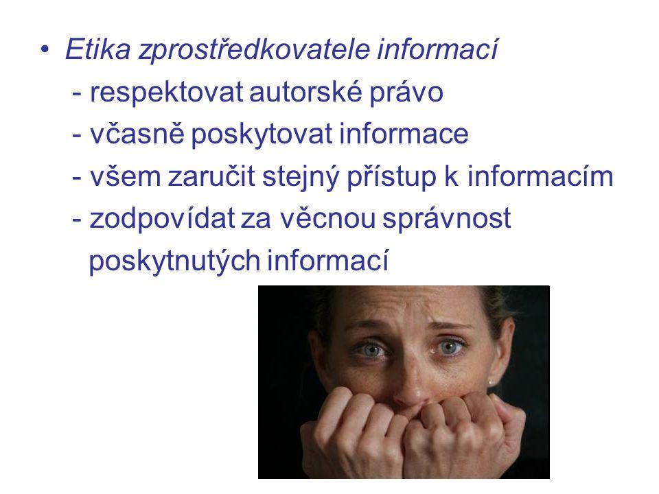 Etika zprostředkovatele informací