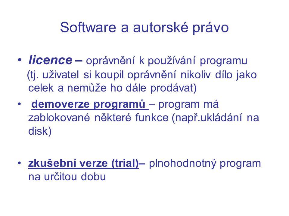 Software a autorské právo