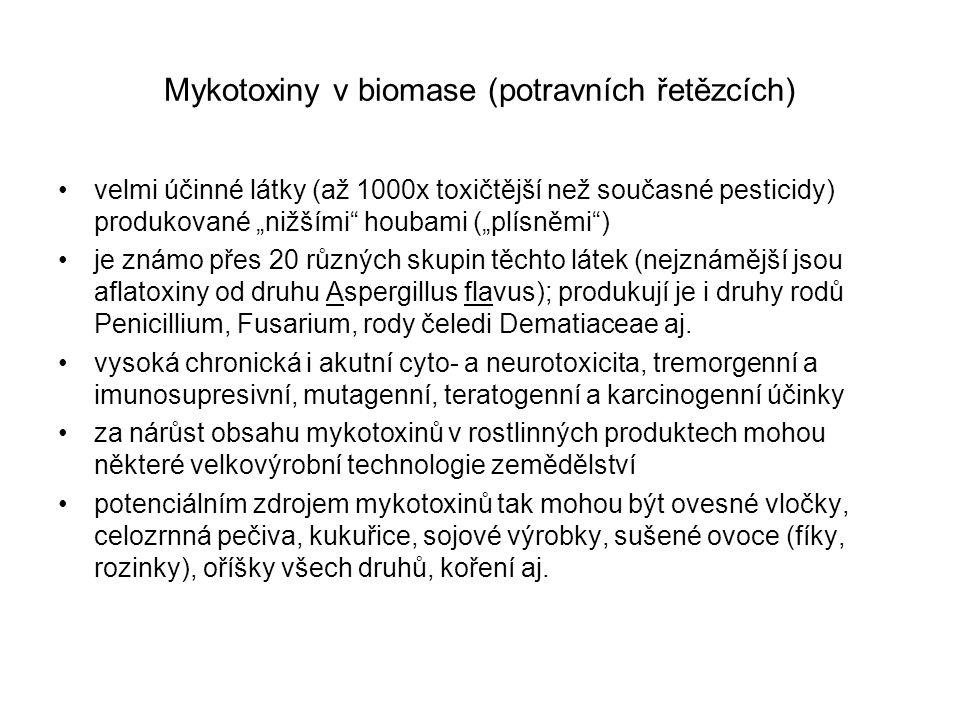 Mykotoxiny v biomase (potravních řetězcích)
