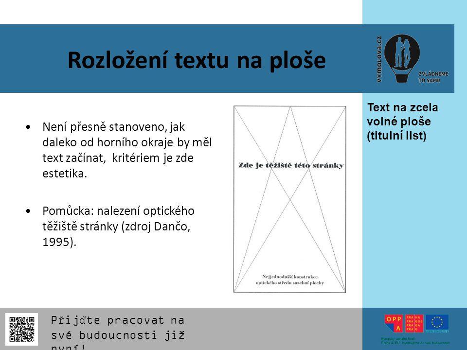 Rozložení textu na ploše