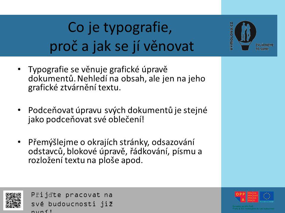 Co je typografie, proč a jak se jí věnovat