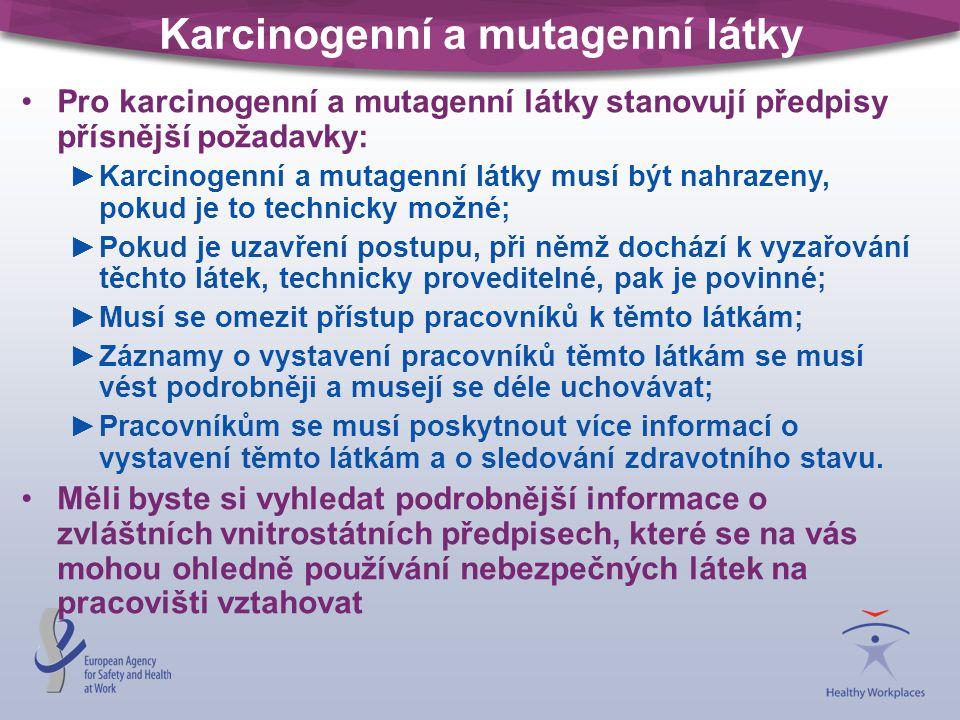 Karcinogenní a mutagenní látky