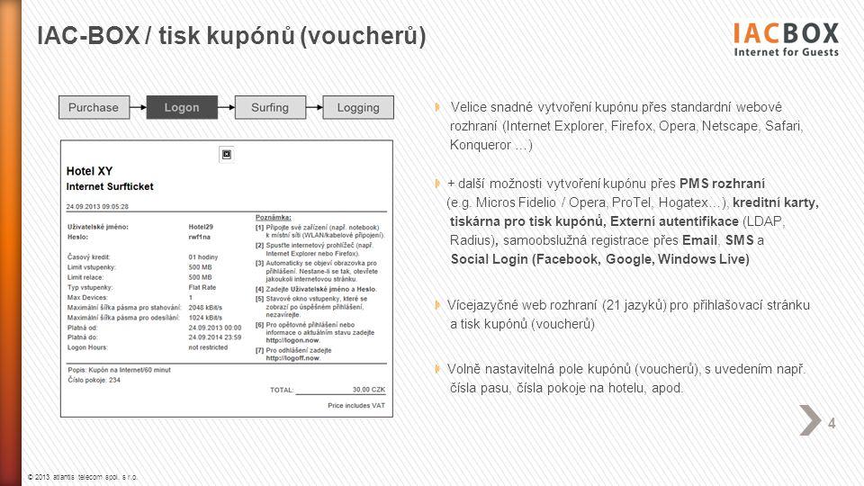 IAC-BOX / tisk kupónů (voucherů)