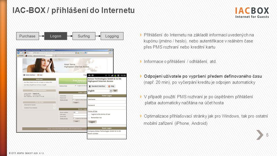 IAC-BOX / přihlášení do Internetu