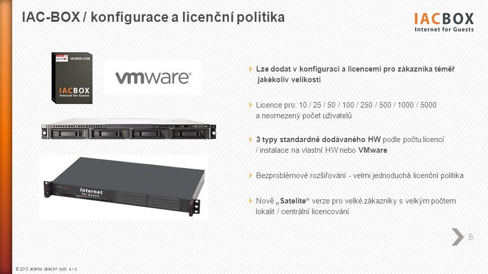 IAC-BOX / konfigurace a licenční politika