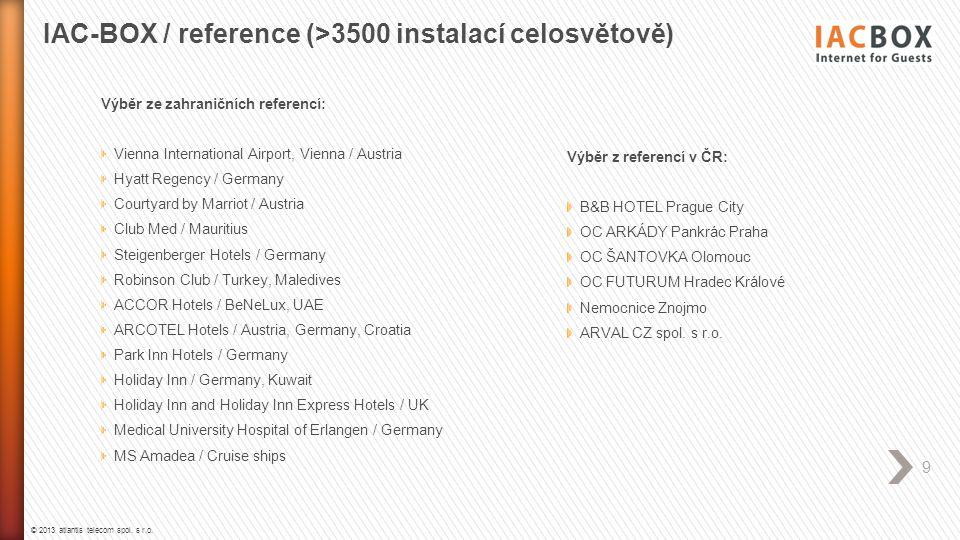 IAC-BOX / reference (>3500 instalací celosvětově)