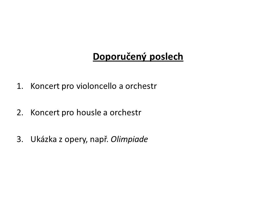 Doporučený poslech Koncert pro violoncello a orchestr
