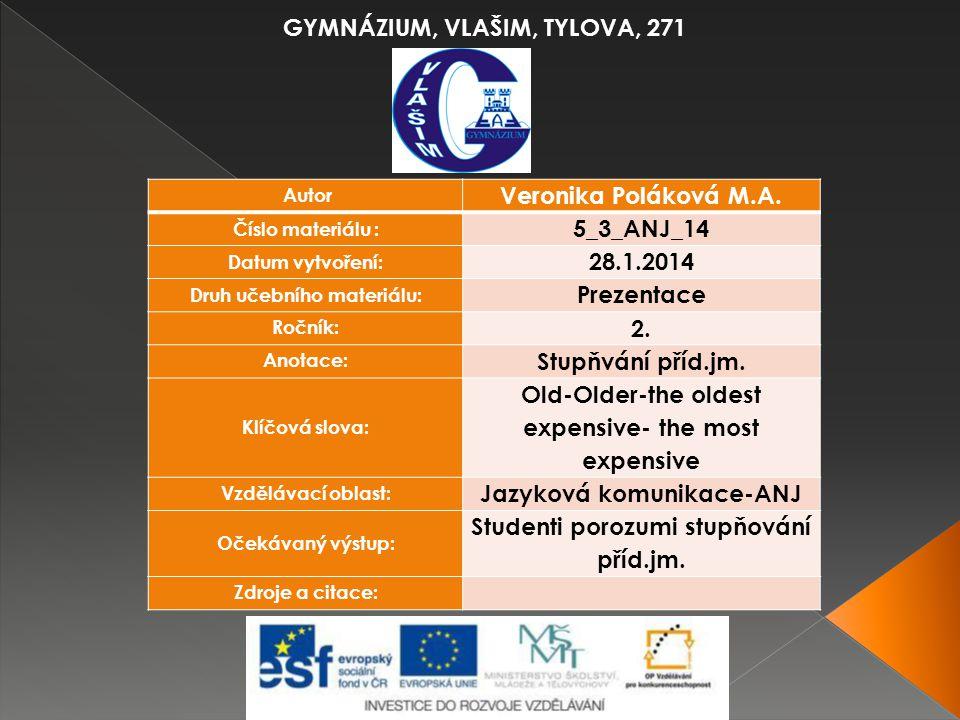 GYMNÁZIUM, VLAŠIM, TYLOVA, 271