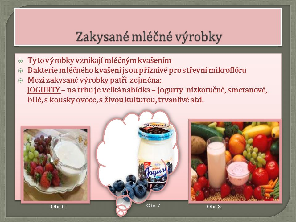 Zakysané mléčné výrobky