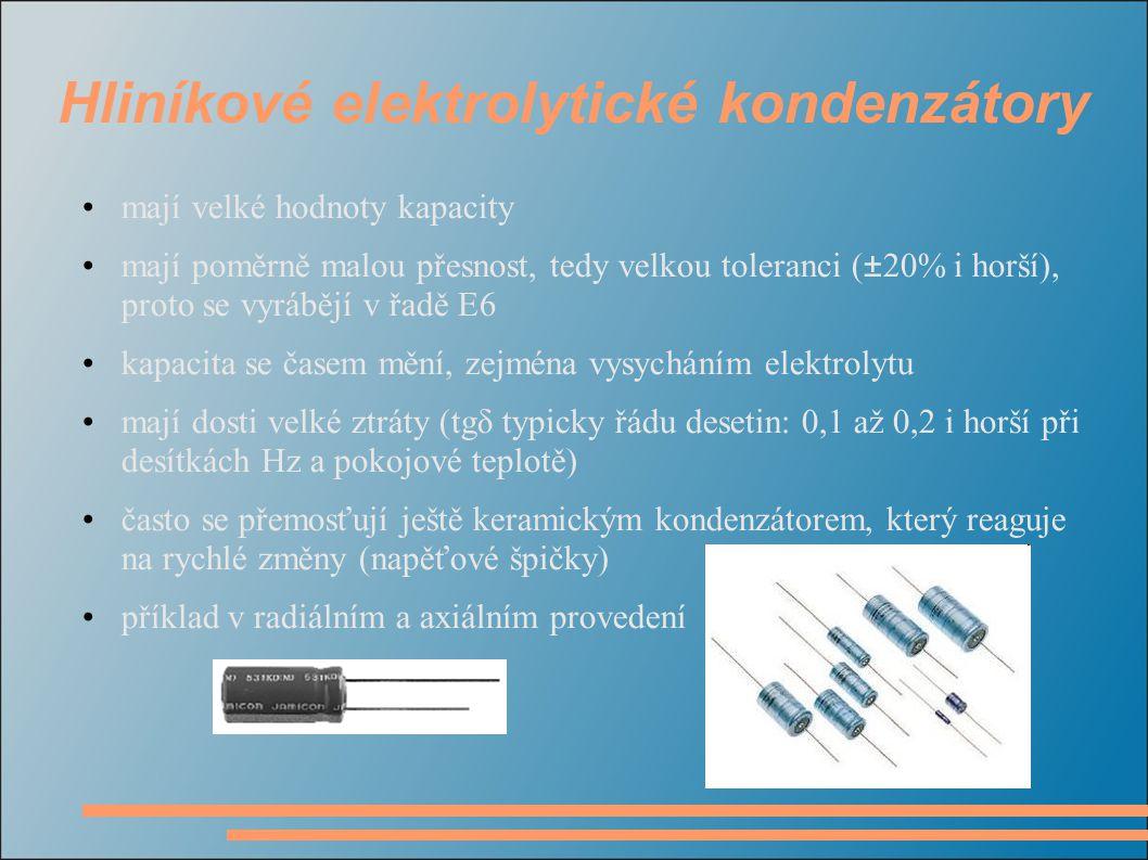 Hliníkové elektrolytické kondenzátory