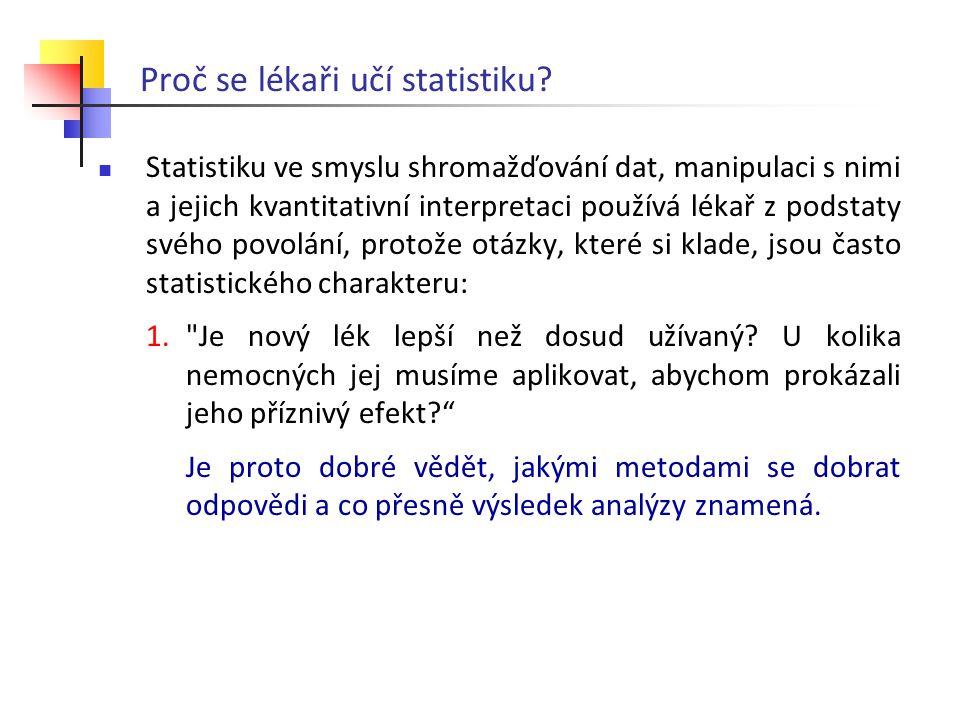 Proč se lékaři učí statistiku