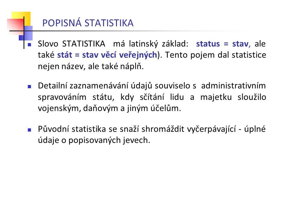 POPISNÁ STATISTIKA