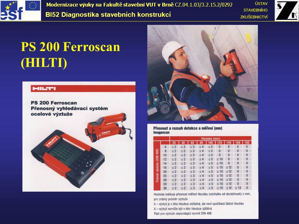 PS 200 Ferroscan (HILTI) BI52 Diagnostika stavebních konstrukcí