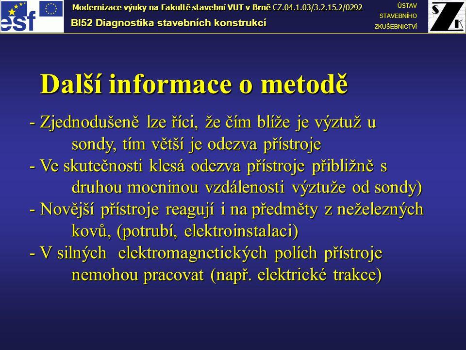 Další informace o metodě