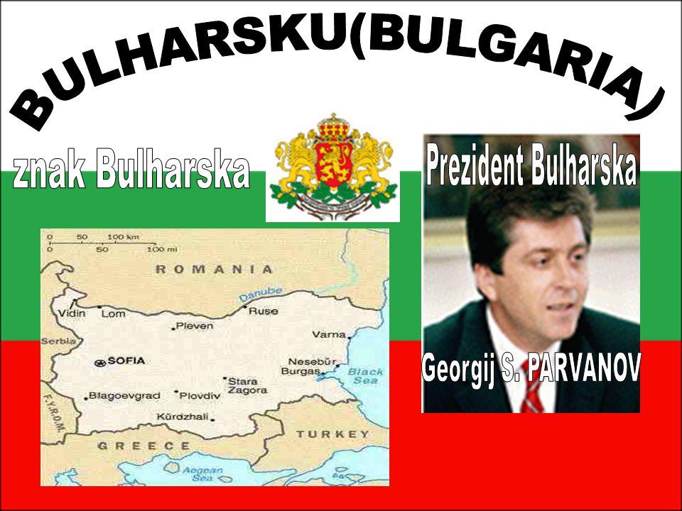 Bulharsko BULHARSKU(BULGARIA) znak Bulharska Prezident Bulharska