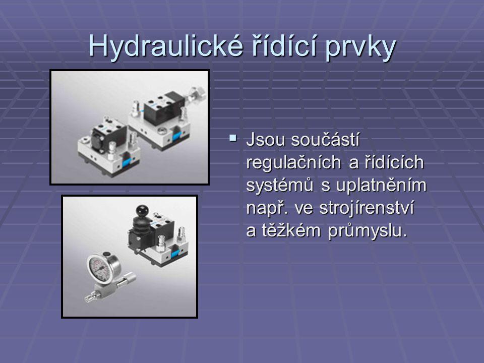 Hydraulické řídící prvky