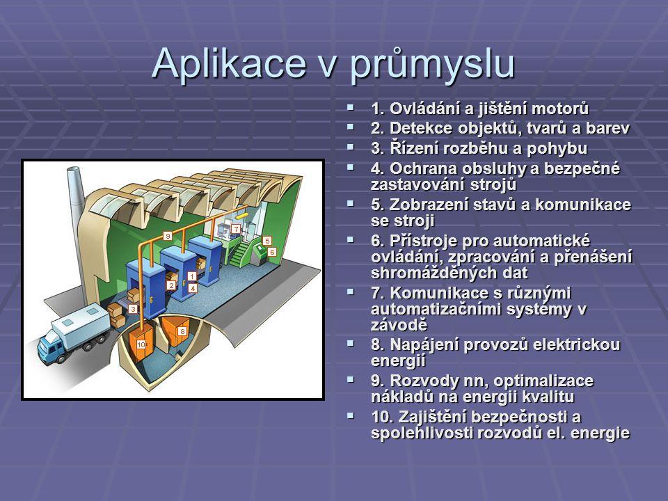 Aplikace v průmyslu 1. Ovládání a jištění motorů