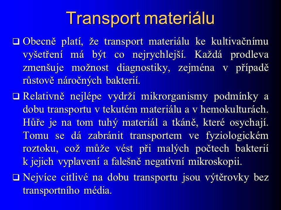 Transport materiálu
