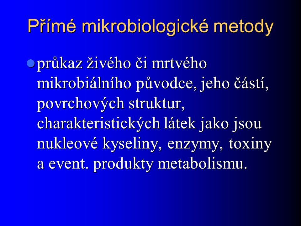 Přímé mikrobiologické metody