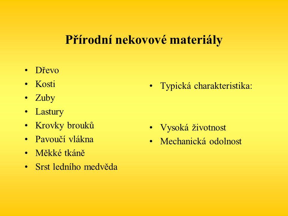 Přírodní nekovové materiály