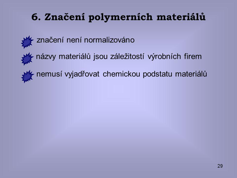 6. Značení polymerních materiálů