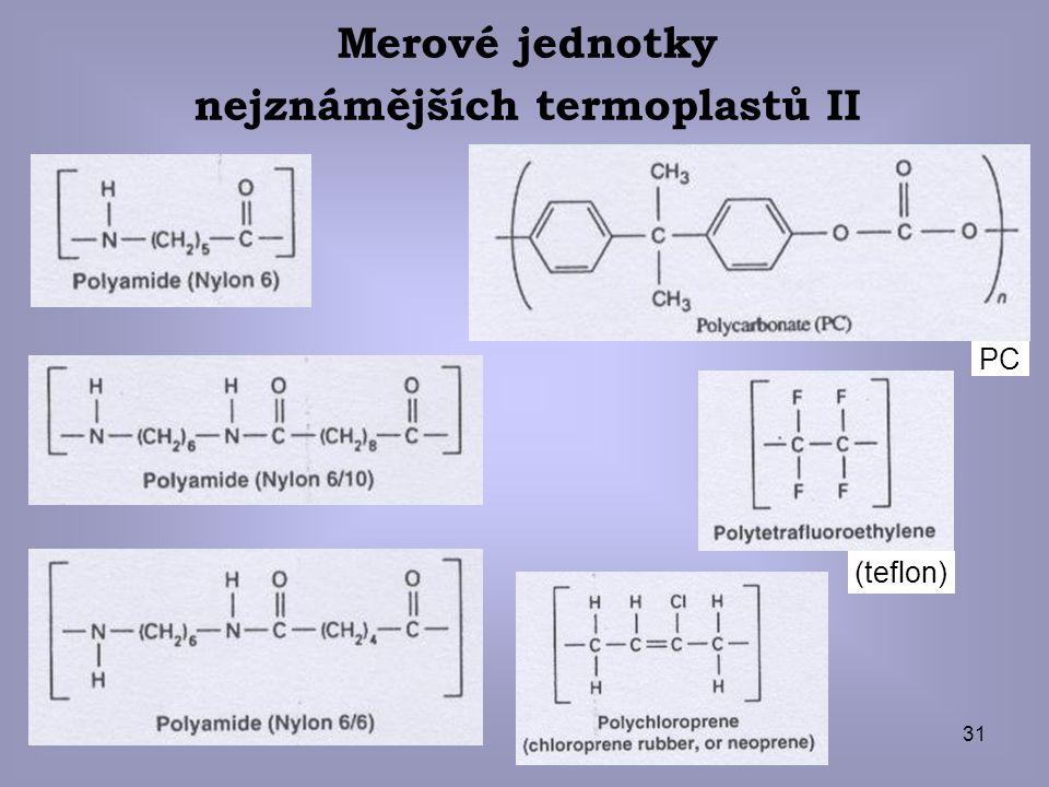 nejznámějších termoplastů II