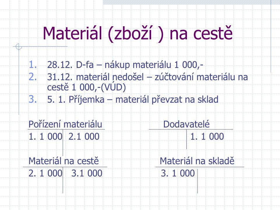 Materiál (zboží ) na cestě