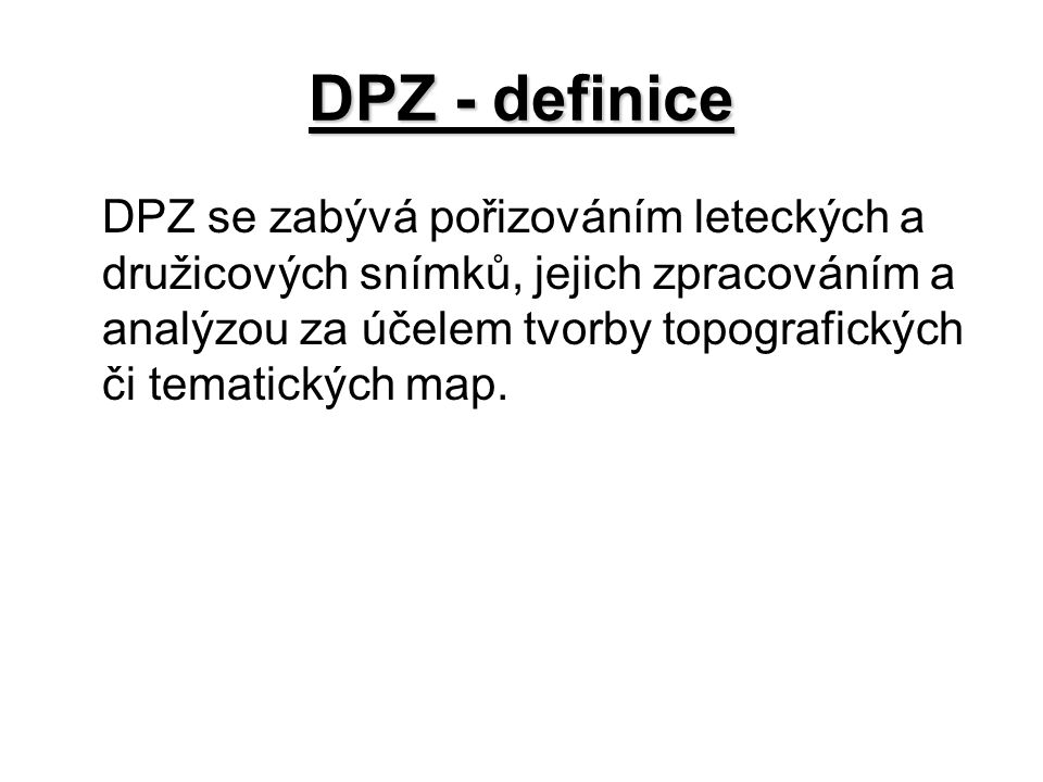 DPZ - definice