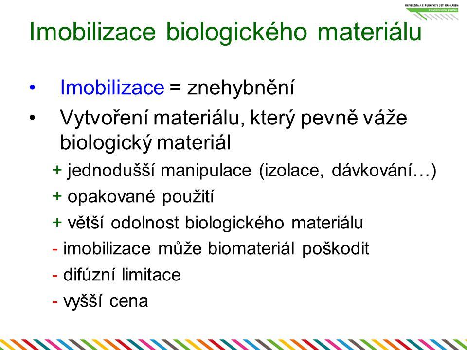 Imobilizace biologického materiálu