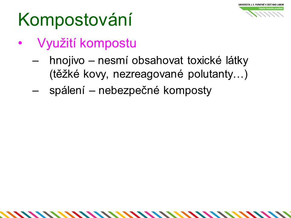 Kompostování Využití kompostu