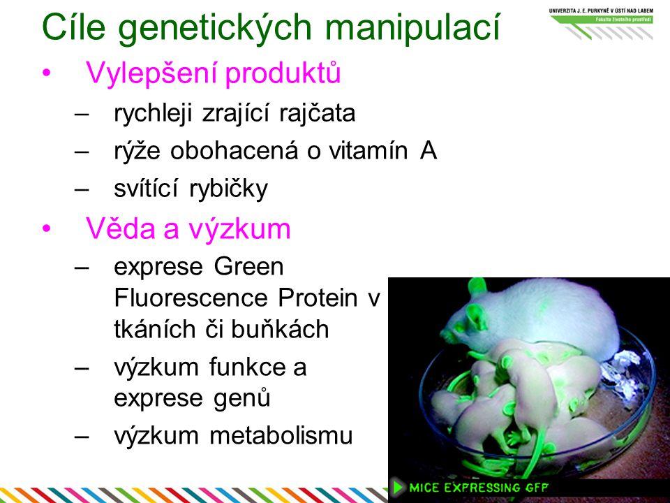 Cíle genetických manipulací
